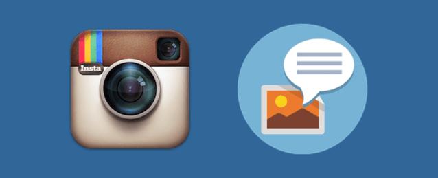Instagramで投稿にキャプション(説明文)を設定する方法